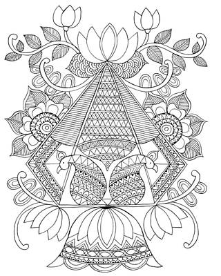Mandala Drawing - Untitled by Neeti Goswami