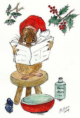 Santa Print by Nell Hill