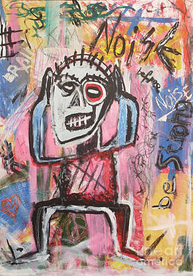 Manson Painting - Untitled Noise by Bela Manson