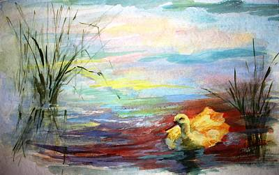 Babylon 5 Painting - Untitled Watercolor       by Mary Spyridon Thompson