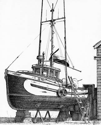 Up For Refit Print by Cliff Higdon