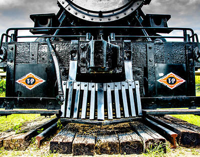 Steam Locomotive Photograph - Up In My Grill by Geoff Mckay
