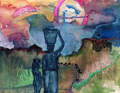 Trial Mixed Media - Up The Hill by Sarah Wathen