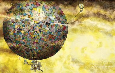 Up Up And Away Print by Colin Thompson