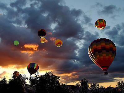 Up Up And Away - Hot Air Balloons Print by Glenn McCarthy