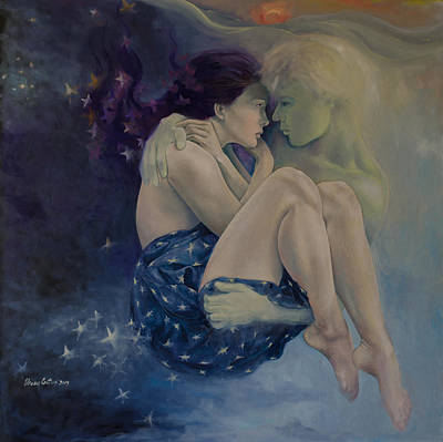 Figurative Painting - Upon Infinity by Dorina  Costras