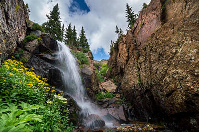 Colorful Photograph - Upper Booth Falls by Michael J Bauer