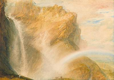 Romanticism Painting - Upper Fall Of The Reichenbach - Rainbow by JMW Turner