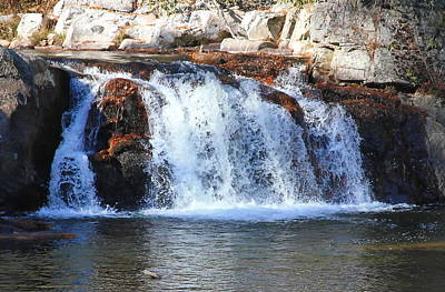 Upper Linville Falls Print by Cathy Lindsey