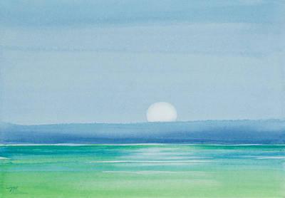 Upper Matecumbe Moonrise Original by Michelle Wiarda