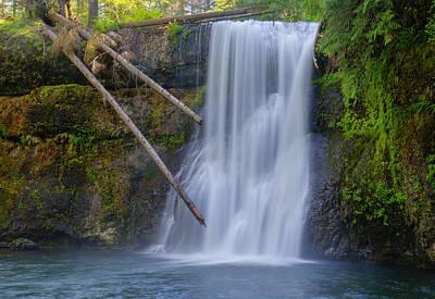 Waterfall Photograph - Upper North Falls by Loree Johnson