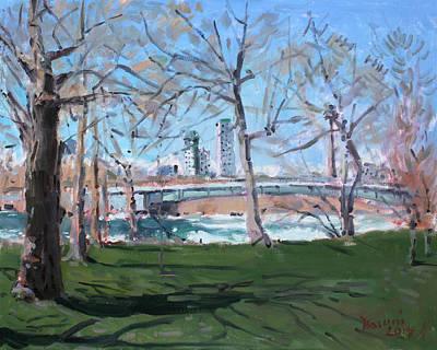 Rapids Painting - Upper Rapids Of Niagara Falls Ny by Ylli Haruni