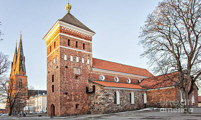 Uppsala Holy Trinity Church Print by Sophie McAulay