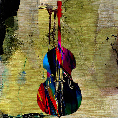Upright Bass Print by Marvin Blaine