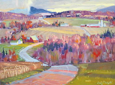 Berkshire Hills Painting - Upstate N Y by Len Stomski