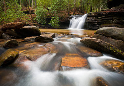America Photograph - South Carolina Blue Ridge Mountains Waterfall Nature Photography  by Dave Allen