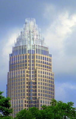 Uptown Charlotte 1 Print by Randall Weidner