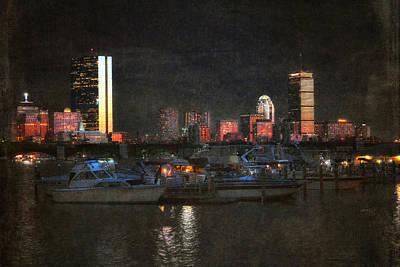 Prudential Center Photograph - Urban Boston Skyline by Joann Vitali