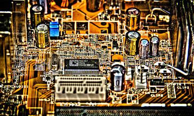 Urban Chipset Print by Alex Hiemstra