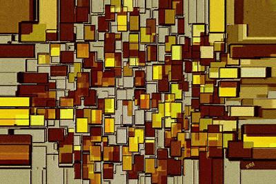 Geometric Digital Art - Urban Dwellings No 2 by Ben and Raisa Gertsberg