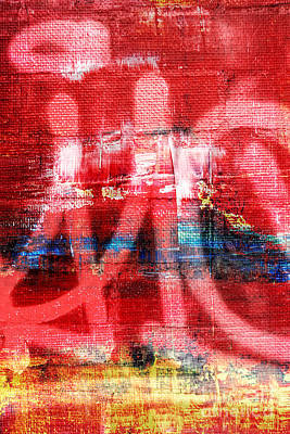 Urban Graffiti Abstract Color Print by Edward Fielding