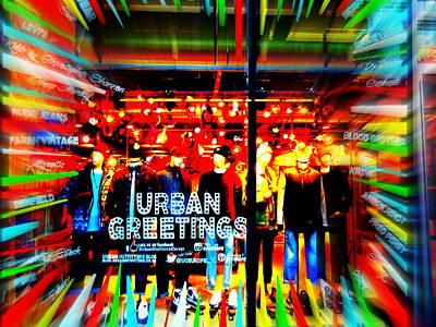 Urban Greetings In London Print by Funkpix Photo Hunter