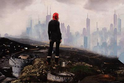 Fantasy Digital Art - Urban Human by Galen Valle
