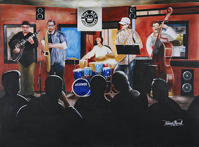Painting - Urban Moment 5- The Gig by Shawn Morrel