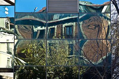 Urban Reflections Madrid Print by Frank Tschakert