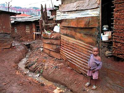 African Huts Photograph - Urban Slum by Laura Conklin M.d., Medical Officer; Respiratory Diseases Branch/cdc