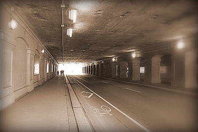 Urban Tunnel Print by Valentino Visentini