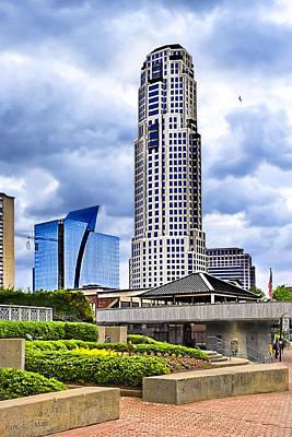 American City Scene Photograph - Urbania - Atlanta Buckhead Skyline by Mark E Tisdale