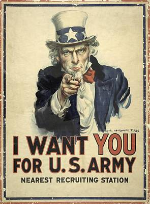 Us Army Recruitment Poster Print by Library Of Congress