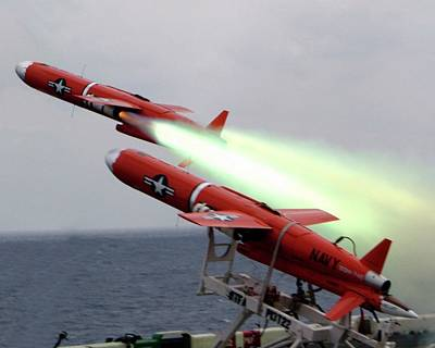 Us Bqm-74 Test Drones Launch Print by Us Navy/nicholas C. Messina