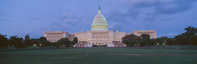 Us Capitol Building At Dusk, Washington Print by Panoramic Images