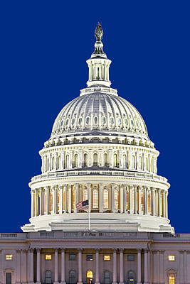 Us Capital Photograph - Us Capitol Dome by Susan Candelario