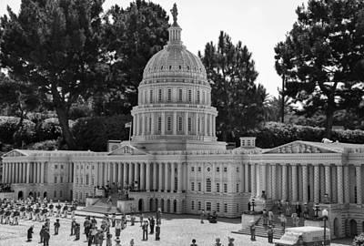 Us Capitol Print by Ricky Barnard