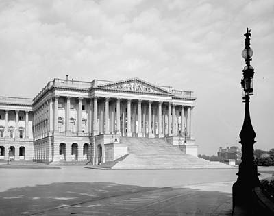 Us Capitol. Senate Wing Of United Print by Everett