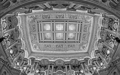 Capitol Building Photograph - Us Library Of Congress Bw by Susan Candelario