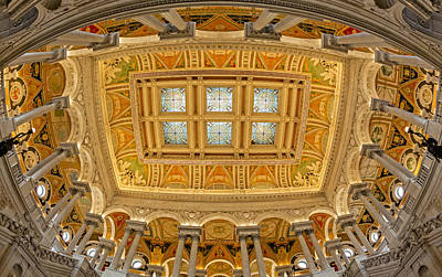 Us Library Of Congress Print by Susan Candelario