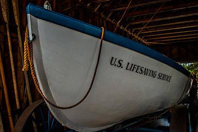 United States Coast Guard Photograph - Us Lifesaving Service Boat by Paul Freidlund