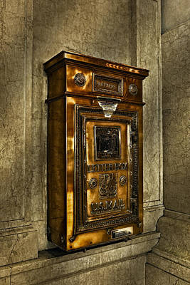 Us Postal Service Photograph - Us Mail Letter Box by Susan Candelario