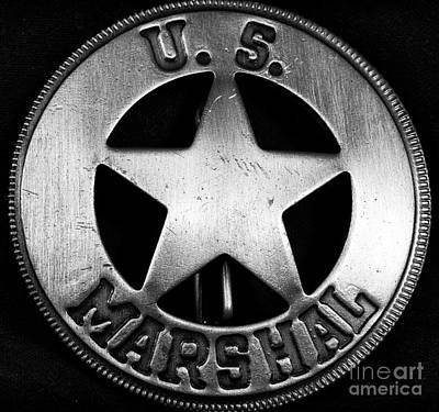 Us Marshal Print by John Rizzuto