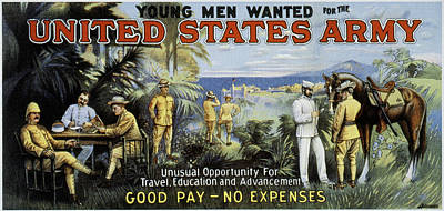 U.s Army Painting - Us Recruiting, 1900 by Granger