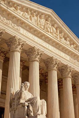 Us Supreme Court Building, Washington Print by Brian Jannsen