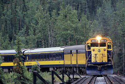 Usa, Alaska, Alaska Railroad, Denali Print by Gerry Reynolds