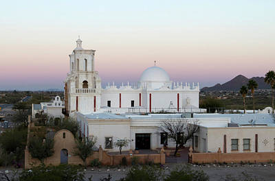 United States Mission Church Photograph - Usa, Arizona Mission San Xavier Del by Luc Novovitch