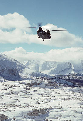 Usa, California, Chinook Search Print by Gerry Reynolds