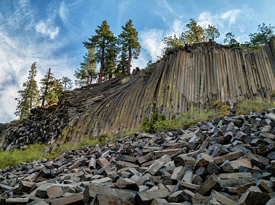 Devils Postpile Photograph - Usa, California, Eastern Sierra, Devils by Ann Collins