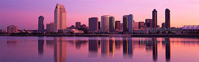 Usa, California, San Diego, Twiilight Print by Panoramic Images